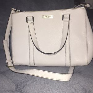 Kate Spade Light Blue Grey Satchel with Gold